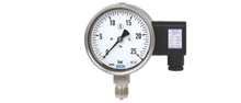 Mechatronic pressure measuring instruments