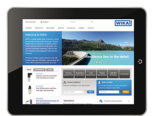 New WIKA website: More info with fewer clicks