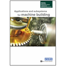 Instrumentation solutions for the machine-building industry: New brochure as a decision aid