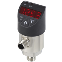 Electronic pressure switch with display, standard version or with flush diaphragm